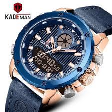 KADEMAN New <b>Dual Display</b> Watches Mens Sports Quartz Wrist ...