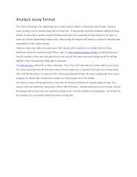 analytical essay exampleanalytical essay format how to write analytical essay   complete essay format