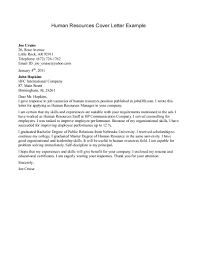 cover letter human resources template cover letter human resources