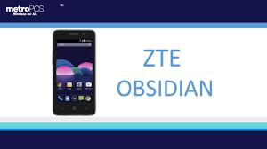 zte obsidian new for metro pcs