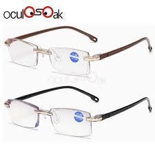 <b>Ultralight Rimless Reading</b> Glasses Women Men Clear Lens Anti ...