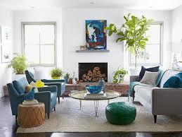 blue casual living room emily henderson on hgtv casual living room