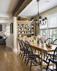 rustic hutch dining room:  rustic hutch with wood beam
