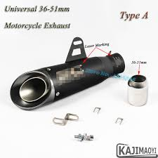 <b>Universal Motorcycle</b> Exhaust <b>51mm 61mm</b> Pipe Escape Modified ...