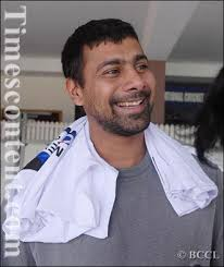 Indian pace bowler Praveen Kumar interacts during an interview in Bangalore on March 27, 2011 - Praveen-Kumar