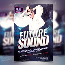 future sound party psd flyer template stockpsd net perfect