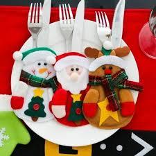 <b>3 Pcs</b>/ Set <b>Cute</b> Christmas Xmas Decor Santa Kitchen Tableware ...