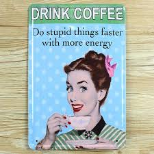 home decor plate x: lkb x  wall pictures quot lady drinking coffee quotmetal vintage tin sign