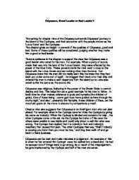 a good leader essay  delpmyfreeipme odysseus good leader or bad leader gcse classics marked by page