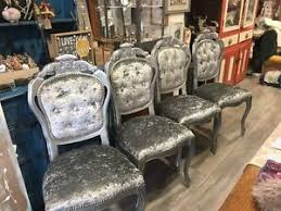 louis dining chair silver