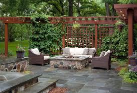 western style patio ideas swivel wicker