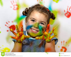 Kid playing with paint - kid-playing-paint-22573322