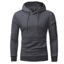 <b>2018 New High End</b> Casual The Sleeve Zippers Hoodie Men'S ...