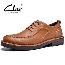 Clax Men Leather Shoe Lace Up 2016 Autumn Men's Ankle Boot ...