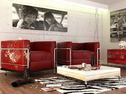 rugs living room nice: red black white contemporary living room sofa furry rug olpos design