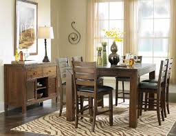 bar height dining table chairs interior dining table with bench and upholstered chairs hic design iq dining ro