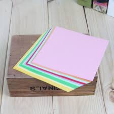 100pcs Square Folding Paper Colorful <b>Double</b> Sided Sheets ...