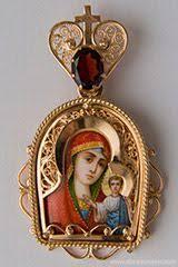 <b>Казанская</b> Божья Матерь, миниатюрные золотые <b>иконки</b> ...