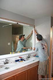 remodelaholic framing a large bathroom mirror bathroom mirrors