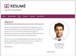 how to build a wordpress résumé site using ithemes builderrecreating an example résumé site