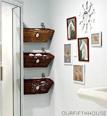 storage ideas pedestal sink towels