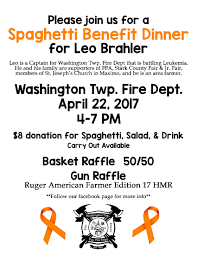 fundraiser spaghetti dinner for leo brahler stark county jr leo benefit flyer