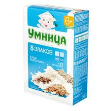 <b>Каша молочная Умница</b> 5 злаков, с 6 мес., 200 гр — купить в ...