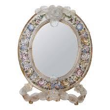 table mirror: an antique micro mosaic venetian table mirror