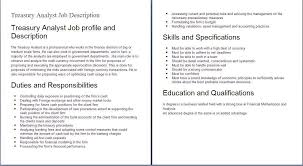 finance job descriptions example example of finance job finance job descriptions