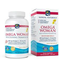 Nordic Naturals <b>Omega Woman</b>, Lemon - <b>Evening</b> Primrose Oil with ...