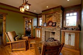 mission style furniture family room craftsman with built ins bungalow doorway earth built furniture living room