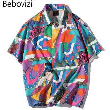 2019 <b>Bebovizi</b> Brand Japanese Ukiyo E <b>Harajuku Hip Hop</b> Color ...