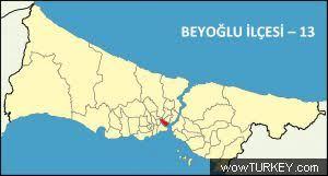 Image result for beyoğlu istanbul haritası