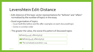 incorporating coherence of topics as a criterion in automatic 30 levenshtein