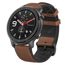 <b>AMAZFIT GTR</b> Brown <b>47mm</b> Aluminum Alloy Case Smart Watches ...