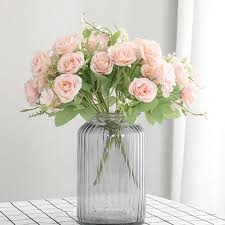 <b>5 Branches Small Rose</b> Bouquet Home Decoration Artificial Flower ...