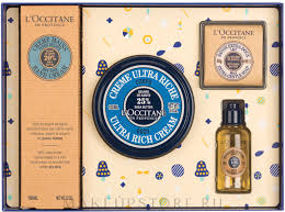 <b>Набор</b> - <b>L'Occitane Karite</b> (h/cr/150ml + b/cr/100ml + sh/oil/35ml + ...