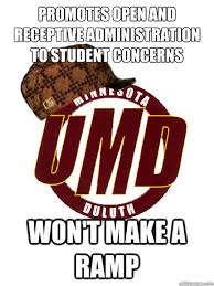 Promotes open and receptive administration to student concerns Won ... via Relatably.com