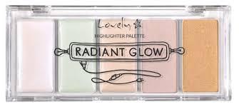 Lovely <b>Палетка хайлайтеров</b> Radiant Glow <b>Highlighter Palette</b>