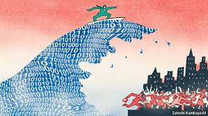 the onrushing wave  the economist in  when the world was sufferingfrom a bad attack of economic pessimism john maynard keynes wrote a broadly optimistic essay