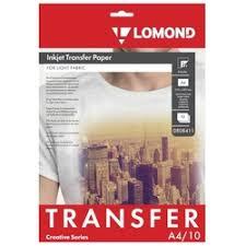 «<b>Бумага LOMOND термотрансферная</b> для светлых х/б тканей ...