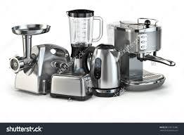 Of Kitchen Appliances Metallic Kitchen Appliances Blender Toaster Coffee Stock