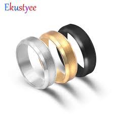 Fashion Simple Matt <b>316L Stainless Steel</b> Rings for Women <b>2018</b> ...