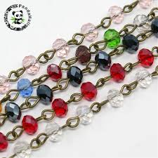 6x4mm <b>Handmade Glass</b> Faceted <b>Abacus</b> Beads Antique Bronze ...