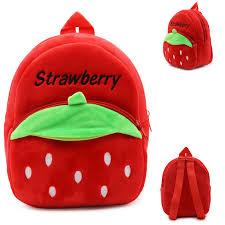 Cute Mini Strawberry Plush <b>Backpack</b> Soft Toys School Bag ...