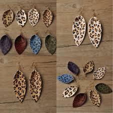 <b>2019 Boho</b> Leopard Leather Teardrop <b>Bohemian</b> Drop Earrings ...