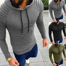 <b>Autumn Hoodies Sweatshirt Men</b> Pleated Long Sleeve Hip Hop <b>Men</b> ...