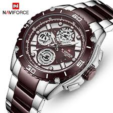 NAVIFORCE Quartz Business Watch Men <b>Top Luxury</b> Brand ...