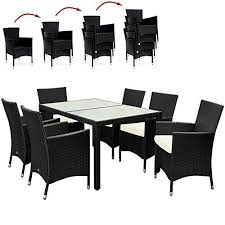patio table and 6 chairs: rattan garden furniture dining table and chairs set pcs   outdoor patio