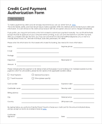 credit card authorization form sample 8 examples in word pdf printable credit card authorization form